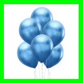 Balon chrom niebieski-op-6 szt