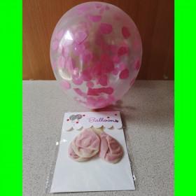 Balon z konfetti róż-op-3 szt