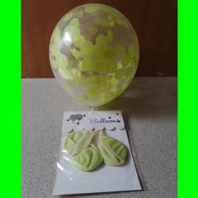 Balon z konfetti zielone-op-3 szt