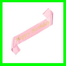 Szarfa różowa-Happy Birthday-