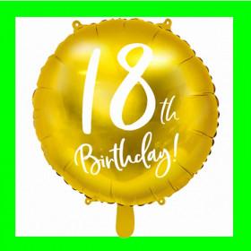 Balon cyfra-18-złota-45 cm