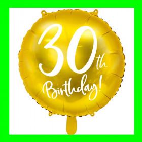 Balon cyfra-30 -złota-45 cm