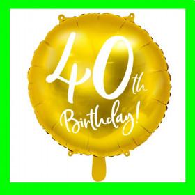 Balon  cyfra-40 - złota -45 cm