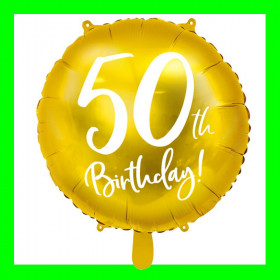Balon  cyfra-50 - złota -45 cm