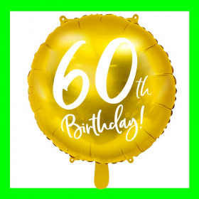 Balon  cyfra-60 - złota -45 cm