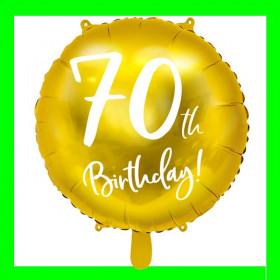 Balon  cyfra-70 - złota -45 cm