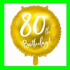 Balon  cyfra-80 - złota -45 cm