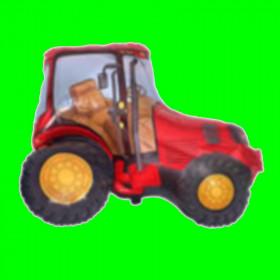 Balon traktor czerwony