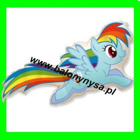 Balon włoski  Rainbow-dash 90 cm